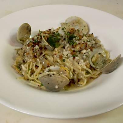 Linguini Vongole at Di Mare Vero Beach brings you Virginia baby clams that are sautéed in garlic oil and white wine over linguine pasta that allows your taste buds to go back in time to experience the old world flavor today.